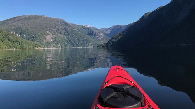kayaking in misty fjords