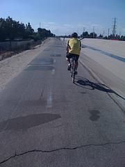 chuck on the bike trail