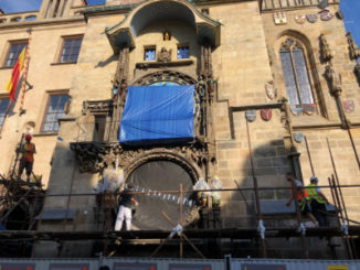 astronomical clock, covered