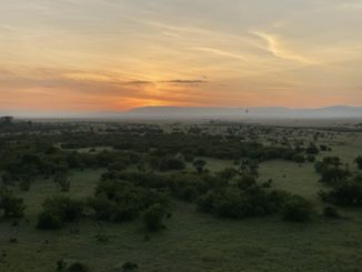 mara sunrise from a hot air balloon
