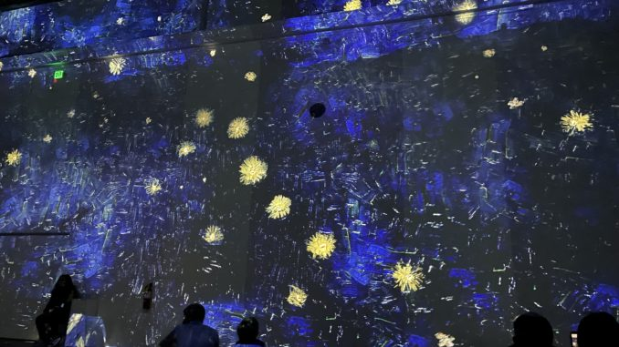 Starry Night at the Immersive Van Gogh exhibit